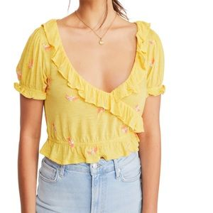 Full Bloom Ruffle Top by FREE PEOPLE